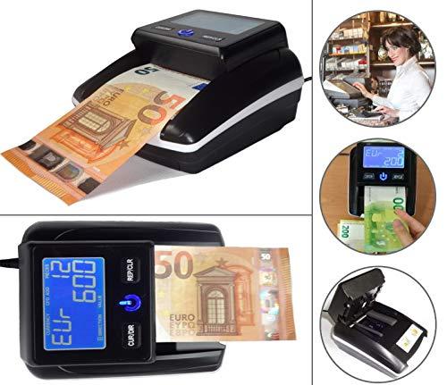 Geldscheinprüfer Multiwährungtester Banknotentester Banknotenprüfer Falschgeldtester mit Zählfunktion Öffnungsklappe für die einfachste Sensorenreinigung