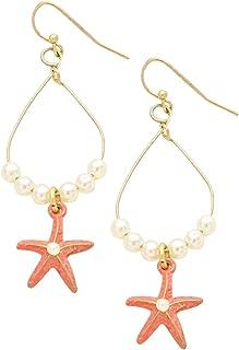 Rosemarie Collections Women's Beach Theme Starfish Dangle Earrings
