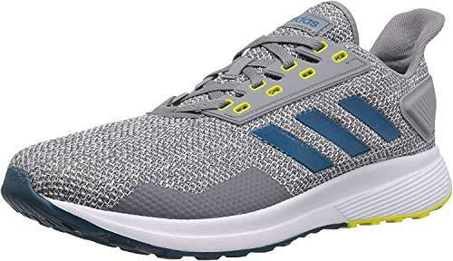 adidas Mens Duramo 9 Running Shoe, Grey/real Teal/White, 12 M US