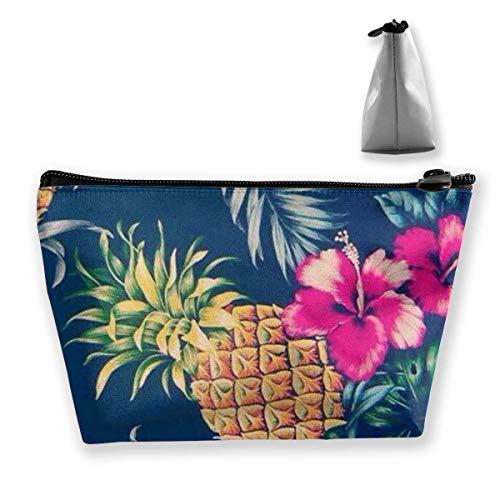 Cadeau idéal – Sac de rangement multifonction multifonction à motif trapézoïdal, petit sac de maquillage, trousse de toilette, sac de voyage portable avec fermeture éclair