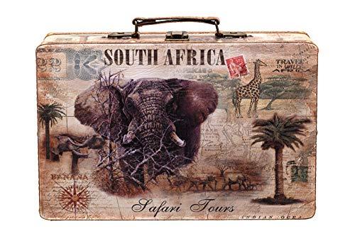 Sarah B 1286 - Maleta de madera, diseño de elefante