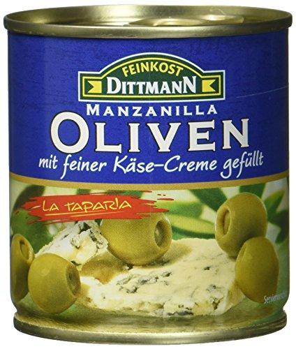 Feinkost Dittmann Oliven gefüllt mit Blauschimmelkäse, 8er Pack (8 x 85 g)