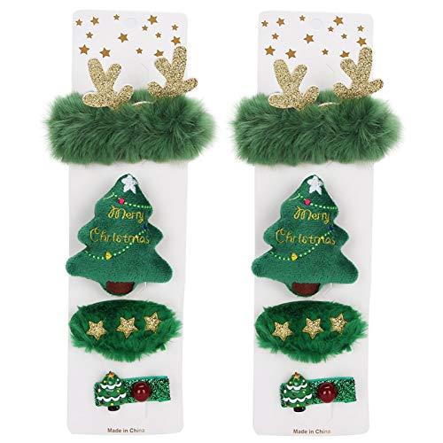 Pwshymi 3 estilos Horquilla pequeña y linda decoración de Navidad para fiestas de Navidad festivals(estilo de tore)