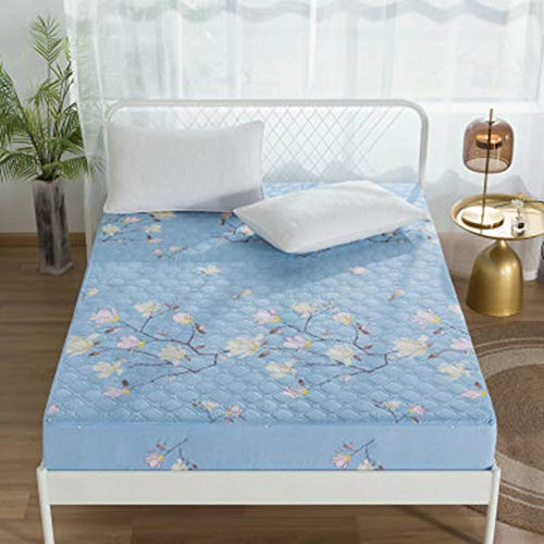 ZHKGANG Fitted Bed Cover Breathable Durable Non Slip Easy To Remove Six Sided All Inclusive Mattress Protector Cover With Zipper,R-150 * 200+25CM