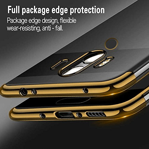 Huawei Mate 10 Pro Hülle, AOLANDER Huawei Mate 10 Pro Handyhülle TPU Case Cover, Leicht Flexible Rugged Armor Hybrid Defender Shockproof Schutzhülle für Huawei Mate 10 Pro (Gold) - 6