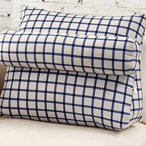 GLP Kissen Nacht Sofakissen Weiche Tasche Büro Lordosenstütze Nickerchen Taille Nackenkissen Doppelnutzung rückenkissen (Color : D, Size : (Cushion+Pillow) 60x50 × 22 cm)