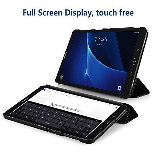 Simpeak Hülle Kompatibel für Samsung Galaxy Tab A 10.1 Zoll (2016), Ultra Dünn Standfunktion und Auto Sleep/Wake Up Funktion Slim Leder Schutzhülle Kompatibel mit Samsung Tab A 10.1 - Schwarz