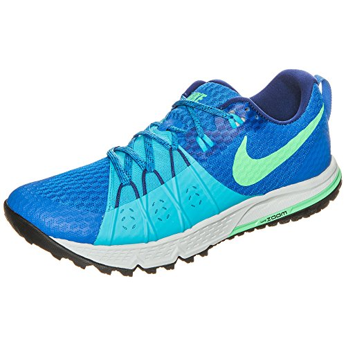 Nike Men's Air Zoom Wildhorse 4 Soar/Electro Green/Chlorine Blue Trail Running Shoes Size 11 D(M) US (11)