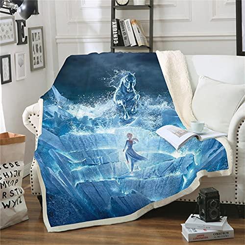 DDONVG Frozen Decke AnnaUndELSA Decke Kuscheldecke Flanell Kinder 3D-Digitaldruck Sonic Fleecedecke,Sofadecke Für Kinder Jugendliche (100x140cm,6)