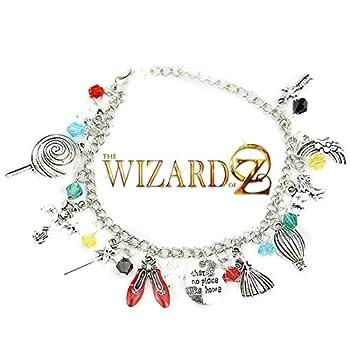 The Wizard of Oz Classic Movie Themed Silvertone Metal Charm Bracelet