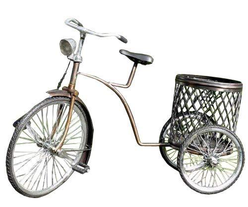 Miniatuurmodel pennenhouder driewieler metaal fiets 05
