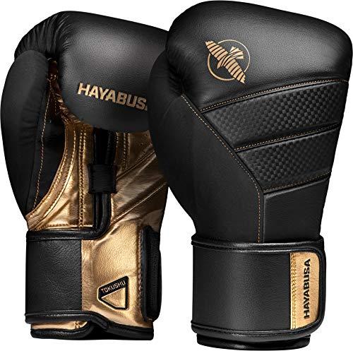 Hayabusa Boxhandschuhe, T3, schwarz-Gold Größe 14 Oz