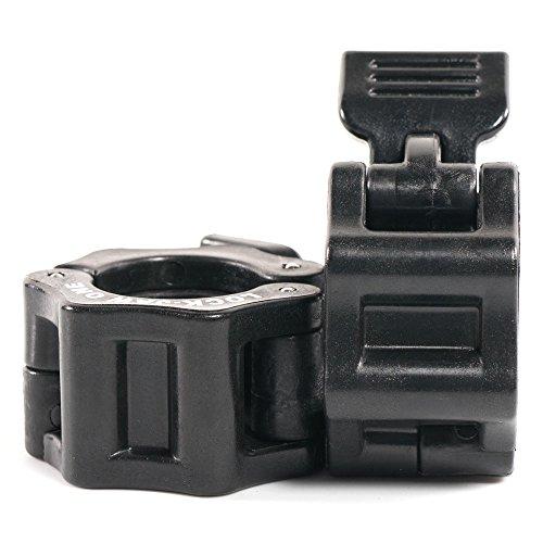 Lock-Jaw 1 Inch Barbell Collar Pair (Black)