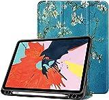 Funda para El Nuevo iPad Air 4 De 10,9 Pulgadas 2020 (4a Generación) con Portalápices, Parte Trasera De TPU Suave Y Funda Protectora Inteligente Triple con Reposo/Activación Automático