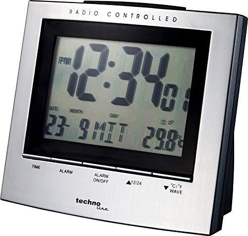 Technoline WT 280 Draadloze wekker, met weergave van binnentemperatuur en datum/weekdag