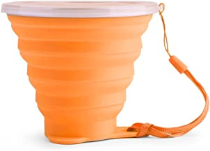 Lixada 270ML Collapsible Stretchy Travel Water Cup FDA Approved Silicone Foldable Folding Cup Outdoor Camping Sports Expandable Cup