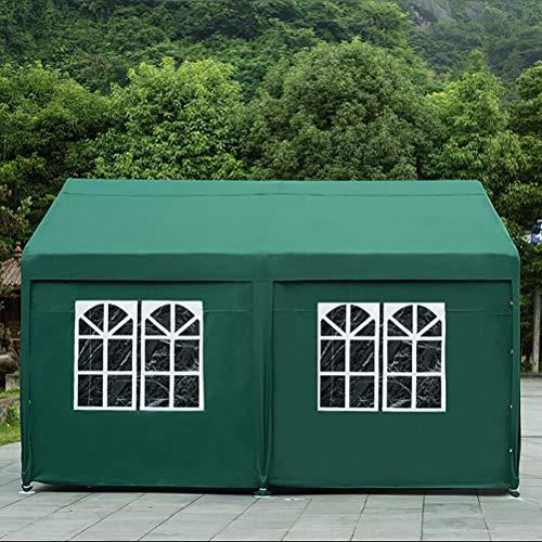 Zhyaj Faltbarer Pavillon 3 X 3 Aufklappbarer Pavillon Mit 4 Seiten - 100% Wasserdicht Und UV-Beständig - Hochwertiges Zeltzelt Für Die Gartenparty,Grün,3x3M