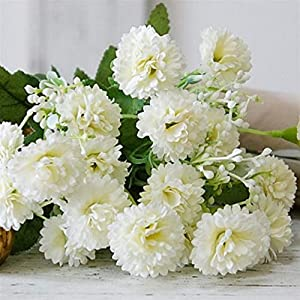 Artificial Flowers Decorative 20 Heads Artificial Lilac Flowers Real Silk Flowers,Wedding Holding Bouquet for Home Garden Decoration Wreath Decorative