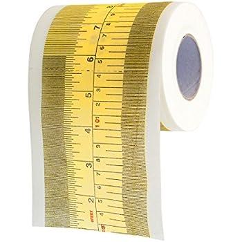 GOODS+GADGETS Lustiges Toilettenpapier mit Maßband Aufdruck Fun Klopapier Scherzartikel mit Größen-Maßstab