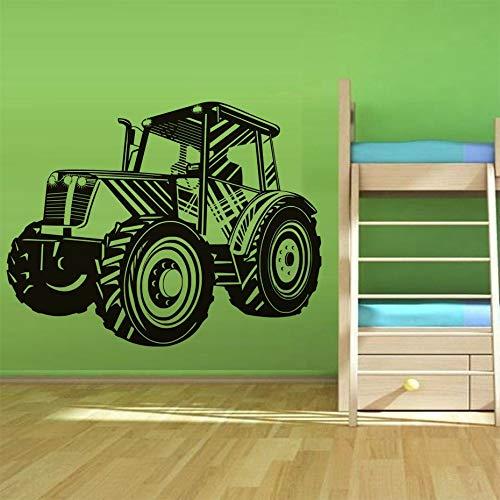 Tianpengyuanshuai cartoon tractor muur sticker kinderen room vinyl verwijderbare tractor muur decals boy room decoratie sticker