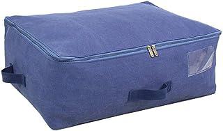 Aqiong CGS2 Sac de rangement rétro en toile pour le stockage de vêtements souples et lavables, grand sac en coton avec fer...