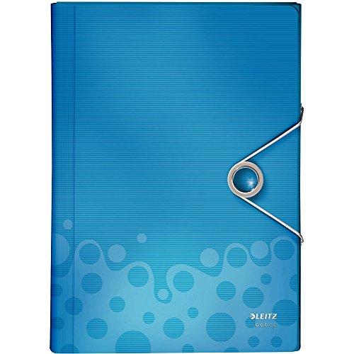 Leitz Projektmappe Bebop A4, Pp,Blau,Mit 6 Fächern