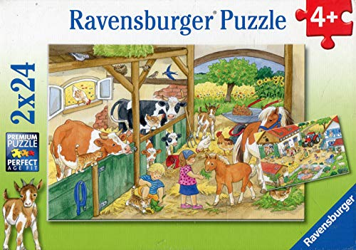 Ravensburger Kinderpuzzle 09195 - Fröhliches Landleben - 2 x 24 Teile
