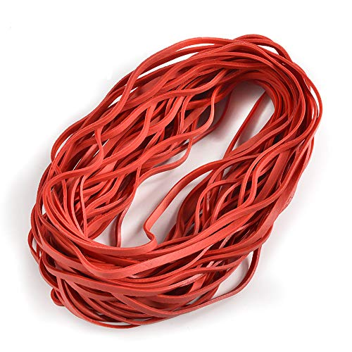 Coopay 60 Pieces Large Rubber Bands Trash Can Band Set Elastic Bands for Office Supply, Trash Can, File Folders, Cat Litter Box, Size 8 inches(Red)