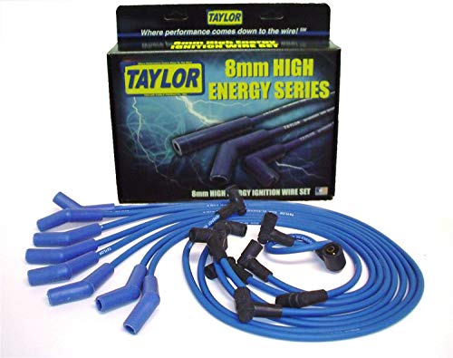 Taylor Cable 64604 Blue 8mm High Energy Spark Plug Custom Wire Set