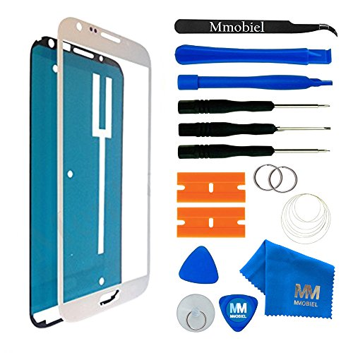 MMOBIEL Front Glass Compatible with Samsung Galaxy Note 2 (White) Display Touchscreen incl Tool Kit