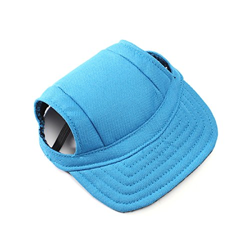 UEETEK Animale domestico cane Sport Baseball Cap tessuto Oxford con fori di orecchio per cani di piccole taglia - taglia S (blu)