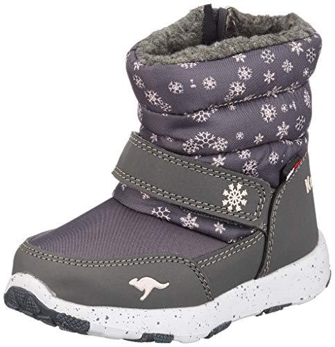 KangaROOS Unisex Baby Snowrush Stiefel, Grau (Steel Grey/Frost Pink 2017), 22 EU