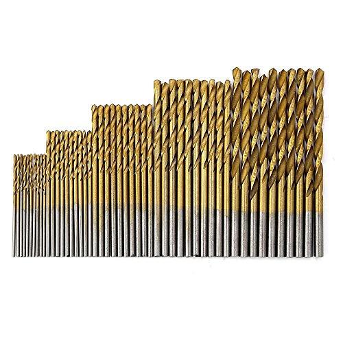 Drill Bit Titanium HSS Drill Bits 1.5mm-10mm Coated Stainless Steel HSS High Speed Drill Bit Set-_50PCS