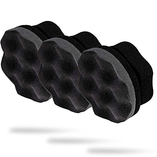 Adam's Pro Tire Hex Grip Applicator (3 Pack) - Tire Shine Car Detailing Foam Sponge Tool | Car Cleaning Supplies After Car Wash Tire Cleaner | for Vinyl Rubber & Trim Accessories | Wheel Cleaner Rim
