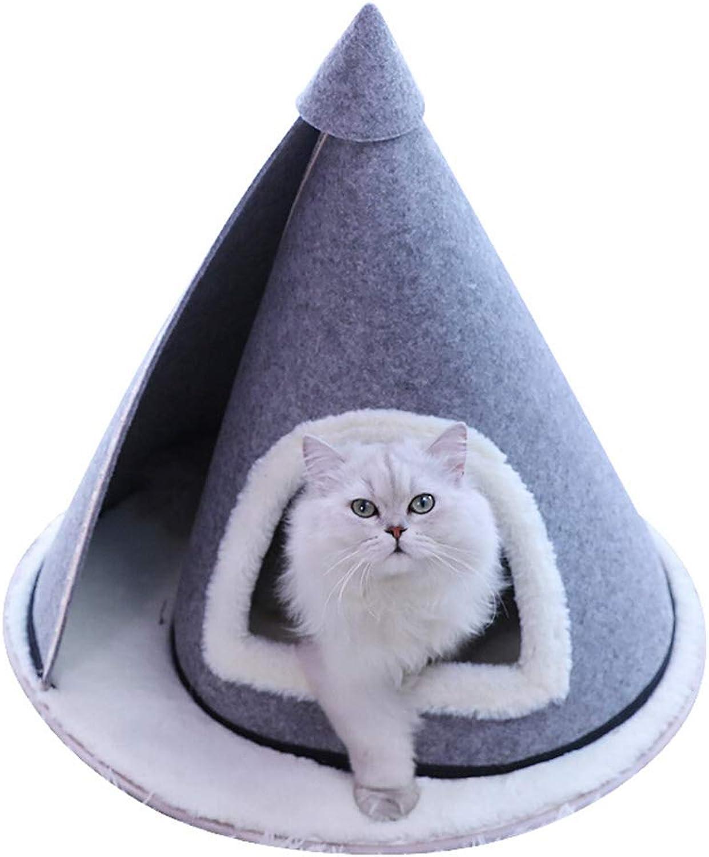 DSADDSD Pet Bed Cat Bed Reel Type Spire Portable Durable Pet Supplies (Size   58cm58cm55cm)