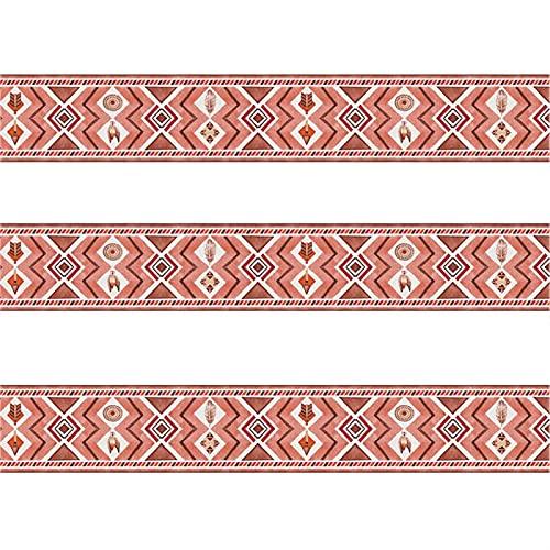 GQQG 6m Borde de Papel Tapiz Adhesivos Autoadhesivos Removibles a Prueba de Agua Pegatinas Línea de Moldura de Pared Flexible, Tiras de Adornos para Pisos para Baños de Cocina (Blanco : Rosa)