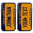 Guard Dog Cool Custom New York License Plate Cases for iPhone Xs Max Personalized – Create Your Own License Plate on a Hybrid Phone Case (Black)