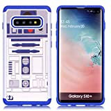 S10 Plus Phone Case - R2D2 Droid Robot Pattern Shock-Absorption Hard PC and Inner Silicone Hybrid Dual Layer Armor Defender Protective Case Cover for Samsung Galaxy S10 Plus 6.4 Inch (2019)