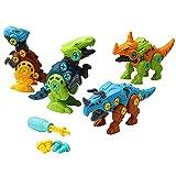 Eamplest Juguetes de dinosaurio para niños, juguetes de desmontaje y montaje, interacción padres e hijos, plástico ABS, juguetes educativos, regalos para niños
