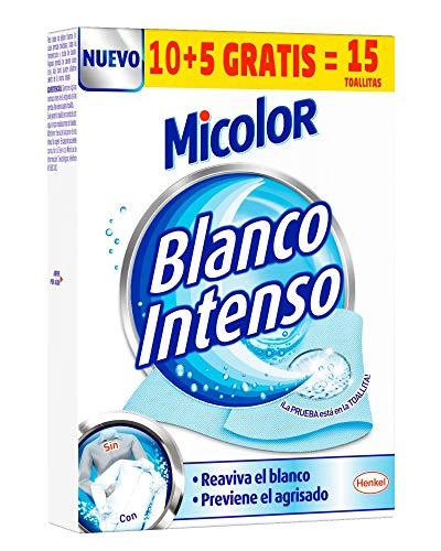Micolor Toallitas Blanco Intenso 10+5-15 Unidades