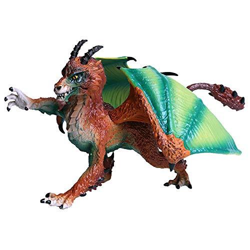 JOKFEICE Dinosaurie leksak realistisk vild drake djurfigurer vetenskapsprojekt, tårtdekoration, tidig pedagogisk leksak födelsedag för småbarn barn ålder 3 4 5 (orange)