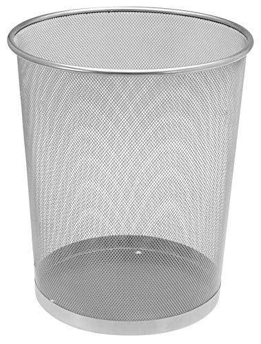 Spetebo Papierkorb Metall 13 Liter - grau - Papiereimer Bürokorb Abfallkorb Mülleimer
