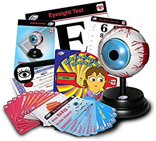 Kid Genio Educational Resource (Eyes) Ophthalmology Deluxe Demo Model Set Toy for learning everything about the eyes system. Includes manual, learning cards, certificate, healthy food cards, stand