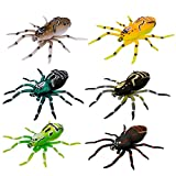 Spotlip Spider Lure Soft Bait Silicone Fishing Lures , 2.95inch/0.23 Ounce Vivid Artificial Swimming Lures for Freshwater Saltwater Fishing Lures Kit-6 Per Box