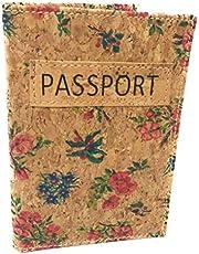 Funda Pasaporte Cartera Viaje Moda Corcho SOSTENIBLE 100 x 100 Estampados étnicos (Gardens)
