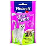 Vitakraft YUMS - Juego de dulces con pollo y hierba para gatos, 40 g