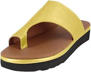 ORANDESIGN Mujeres Bunion Corrector Platform Sandal Comfy Ca