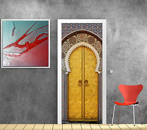 Art Deco Sticker Türposter – Orientalische Tür – 73 x 204 cm