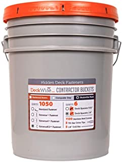 DeckWise Ipe Clip ExtremeKD Fastener System 5 Gallon Contractor Bucket- 1050 Brown Deck Clips - #8 X 2