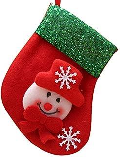 Artículos para el hogar de Armfer Pequeños adornos de calcetín de Navidad Fieltro Dibujos animados Muñeco de nieve Papá Noel Ciervo Calcetines Decoración Brillo Brim Hnaging Decoraciones para árboles de Navidad para la fiesta de carnaval de Navidad de año nuevo feliz